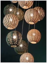 If you like to crochet, try crocheting some light shades.