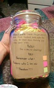 A Jar Of Notes Lovely And Personal Gift Ideas Boyfriend Gifts Diy Birthday Gifts Friend Birthday Gifts