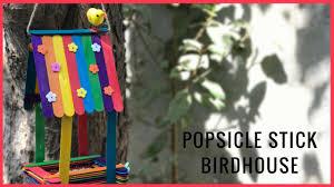 Diy Birdhouse Diy Popsicle Stick Birdhouse Youtube
