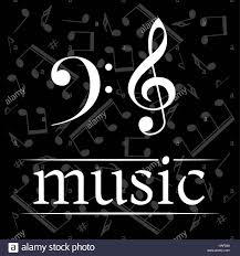 Treble Clef Music Music Poster With Treble Clef And Bass Clef Musical Background With