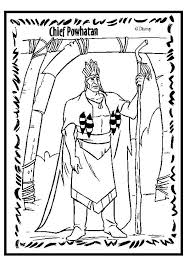Chief Powhatan Coloring Page American Heritage Girls Rule