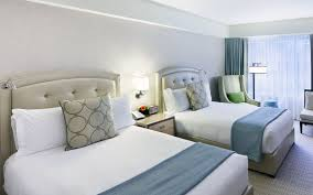 two double beds. Delighful Double Seaport Boston Hotel Premier Room  Two Double Beds  Intended