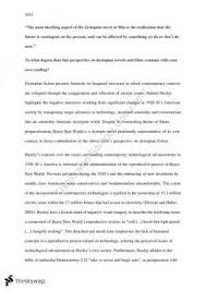 year hsc english extension  dystopia essay