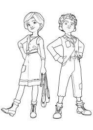 Félicie And Victor From Leap Coloring Page Ballerina