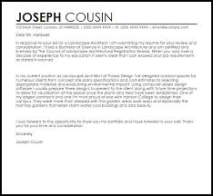 Best Solutions Of Landscape Architecture Cover Letter Sample About
