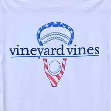 Vineyard Vines Lacrosse Stick American Flag Tee