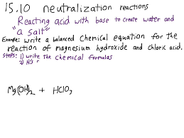 writing balanced equations for acid base neutralization reactions you