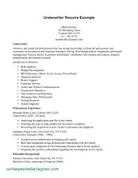 Resume Examples For Underwriters Unique Insurance Underwriter Cover