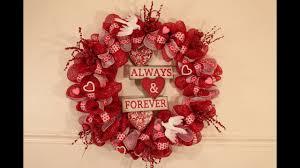 valentines day deco mesh wreath tutorial