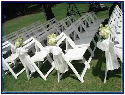 white wood wedding chairs for
