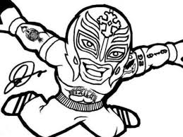 Wwe Coloring Pages Rey Mysterio Sean039s Coloring Pages Pinterest