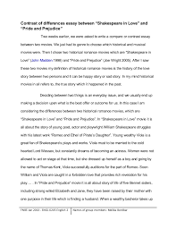 contrast of differences between two historical movies 3 contrast of differences essay