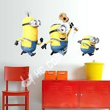 minion wall decals 3 large minions deable me removable wall sticker decal kids room home decor