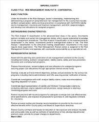 Management Analyst Job Description Risk Management Job Description Risk Management Officer Job 2