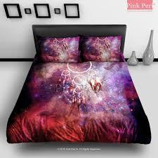 dream catcher galaxy nebula bedding pink peri sleep between the stars with the galaxy bedding set