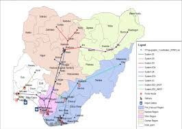 Map Of Nigeria Showing Pipe Network And Petroleum Depots