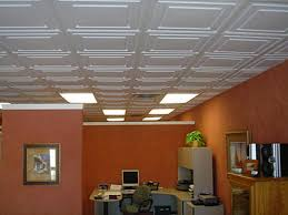 Image of: Faux Drop Ceiling Tiles Baesement Style