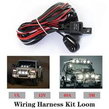 How To Install Led Lights In Car Exterior 2019 Car Led Light Bar Wire 3m 12v 24v 40a Wiring Harness Relay Loom Cable Kit Fuse For Auto Driving Offroad Led Work Lamp From Tonethiny 47 04
