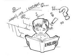 Kleurplaat Engels Studeren Afb 9242 Images
