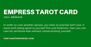 empress tarot card past position