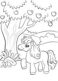 Zentangle Geïnspireerd Ontwerp Van Happy Little Pony Voor Volwassen