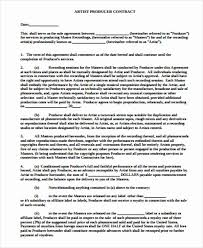 Management Contract Template Enchanting Artist Management Contract Template Awesome 48 Artist Agreement