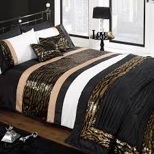 black white and gold comforter set color
