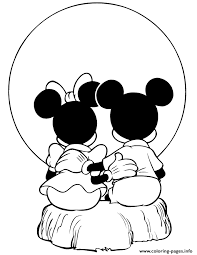 Small Picture Mickey And Minnie Mouse Watching Sunset Disney Coloring Pages