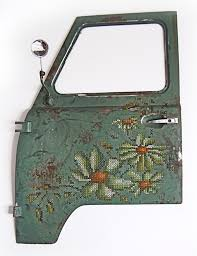 new to me these embroidered car doors by lithuanian textile artist