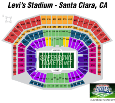 Levis Stadium Seating Chart Super Bowl 50 Seating Chart Levis Stadium In Santa Clara