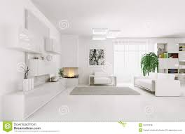 White Living Room White Living Room Interior 3d Royalty Free Stock Photos Image