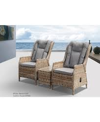 yarra 3pce recliner chair with side