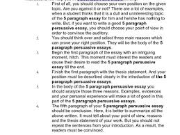 five paragraph persuasive essay examples jianbochencom graphic five paragraph essay example