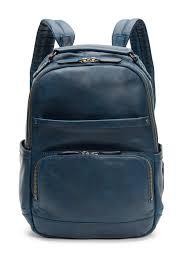 image of frye leather logan backpack