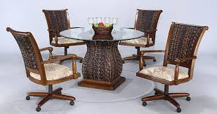 dining room chairs with wheels within casters foter idea 2 dining room chairs with wheels in