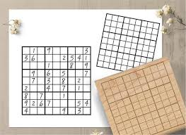 Sudoku Template Stamp Sudoku Rubber Rubber Stamp Sudoku Etsy