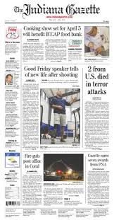 Friday Gazette 2016 By Printing March Indiana 25 The wz5E8q8