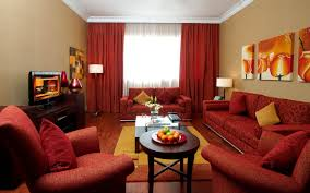 Living Room With Red Sofa Stunning Decorating Living Room With Red Sofa And Decorative
