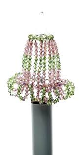 chandelier bulb cover beaded o candle covers light pink glass