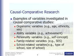 Causal Comparative Study Sample Study Of Causal Comparative Research