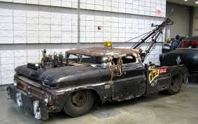 Just a car guy : Rat Rod tow truck... full size 1950's Chevy ...
