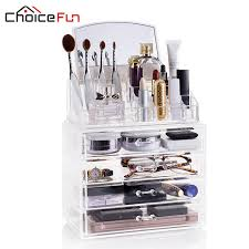 choicefun 4 office storage box drawers acrylic fashion diy makeup organizer clear plastic with mirror 100 guaranty sf 1029m 4 affiliate