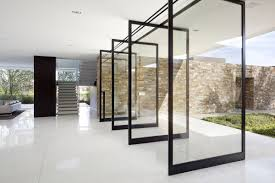 large glass pivot doors from xten architecture