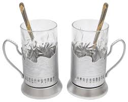 silver russian vintage crystal tea glass handmade holder podstakannik set of 2 traditional wine glasses by gifts plaza