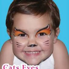 simple face paint idea for smaller kids who can t be still