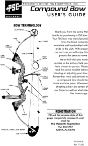 Compound Bow User S Guide Bow Terminology Registration