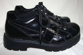 Gbx Shoes Size Chart Vintage Gbx Platform Shoes Black Leather Silver Goth Rave