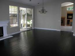 black hardwood floors gray walls