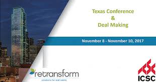 icsc texas conference and deal making dallas