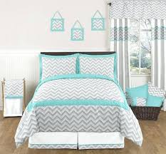 grey and white chevron bedding turquoise and gray chevron bedding set from sweet designs turquoise and grey and white chevron bedding